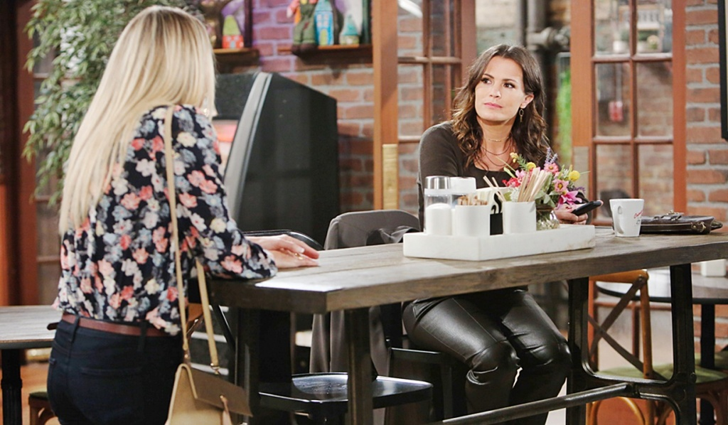Sharon, Chelsea talk Y&R