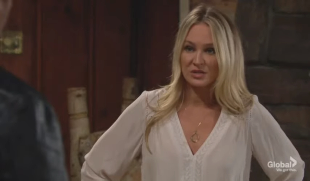 Sharon and Nick discuss Rey at her house Young and the Restless