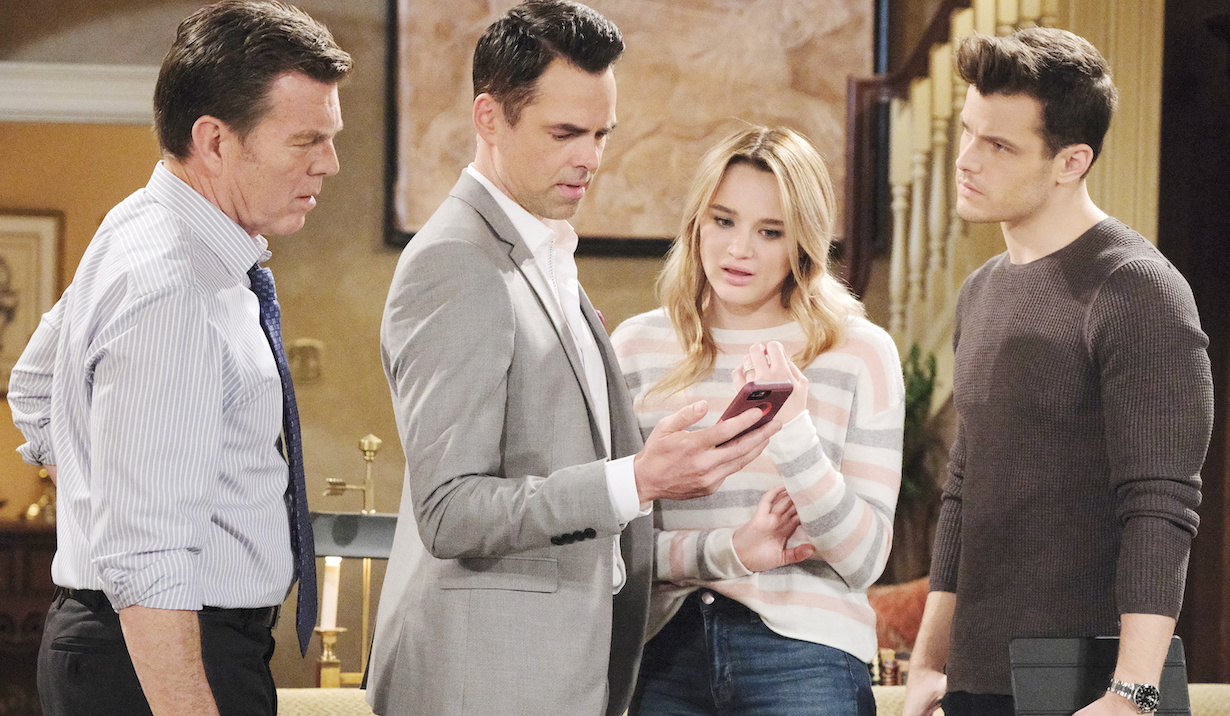 "Hunter King, Michael Mealor, Jason Thompson, Peter Bergman""The Young and the Restless"" Set CBS television CityLos Angeles02/27/19© XTArroyo/jpistudios.com310-657-9661Episode # 11655U.S. Airdate 04/02/19"