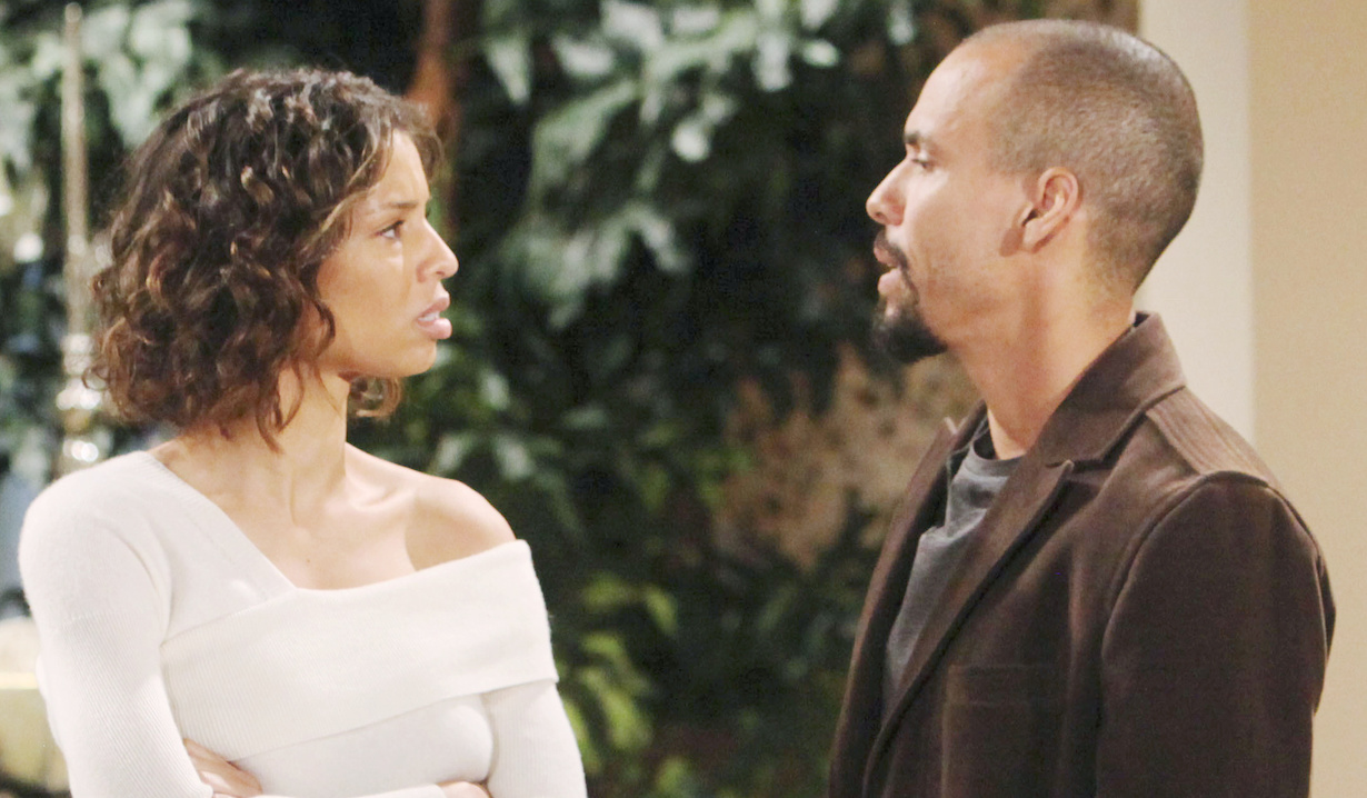 "Brytini Sarpy, Bryton James""The Young and the Restless"" Set CBS television CityLos Angeles11/07/19© Howard Wise/jpistudios.com310-657-9661Episode # 11837U.S. Airdate 12/18/19"