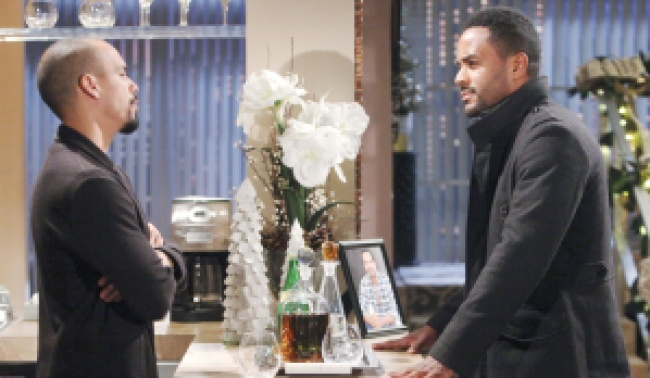"""Sean Dominic, Bryton James""""The Young and the Restless"""" Set CBS television CityLos Angeles10/29/19© Howard Wise/jpistudios.com310-657-9661Episode # 11832U.S. Airdate 12/11/19"""