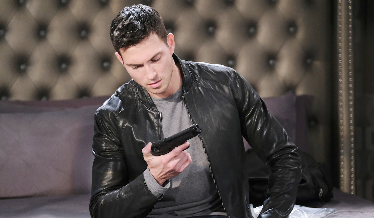 Ben holds a gun in hotel room on Days of Our Lives