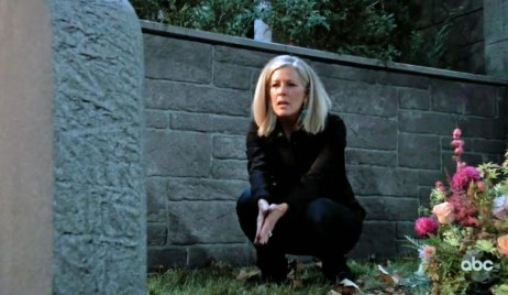 Carly visits Nelle's Grave on GH