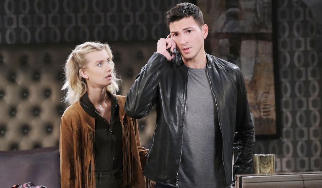 Ben receives news with Claire on Days of Our Lives