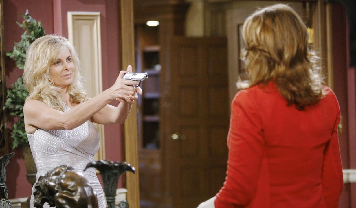 "Eileen Davidson, Deidre Hall""Days of our Lives"" marlena kristen gun"