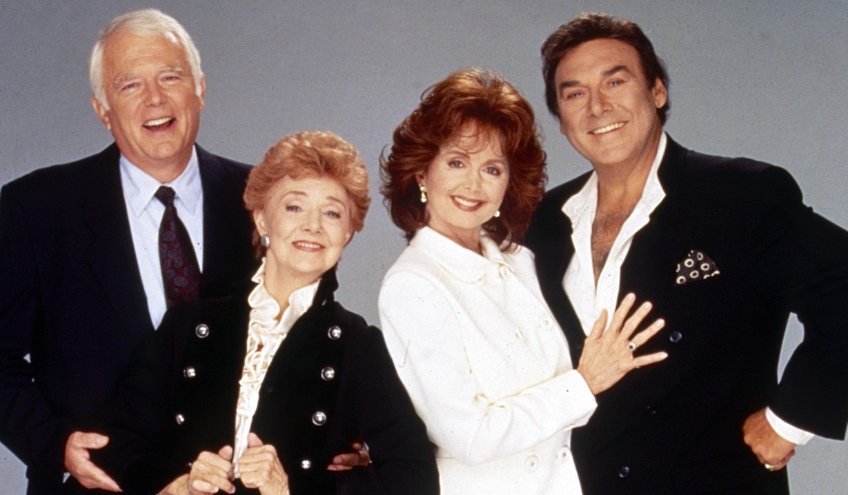 DAYS OF OUR LIVES, from left: Frank Parker, Peggy McCay, Suzanne Rogers, Joseph Mascolo, (1996), 1965- . ph: Chris Haston/©NBC/Courtesy Everett Collection