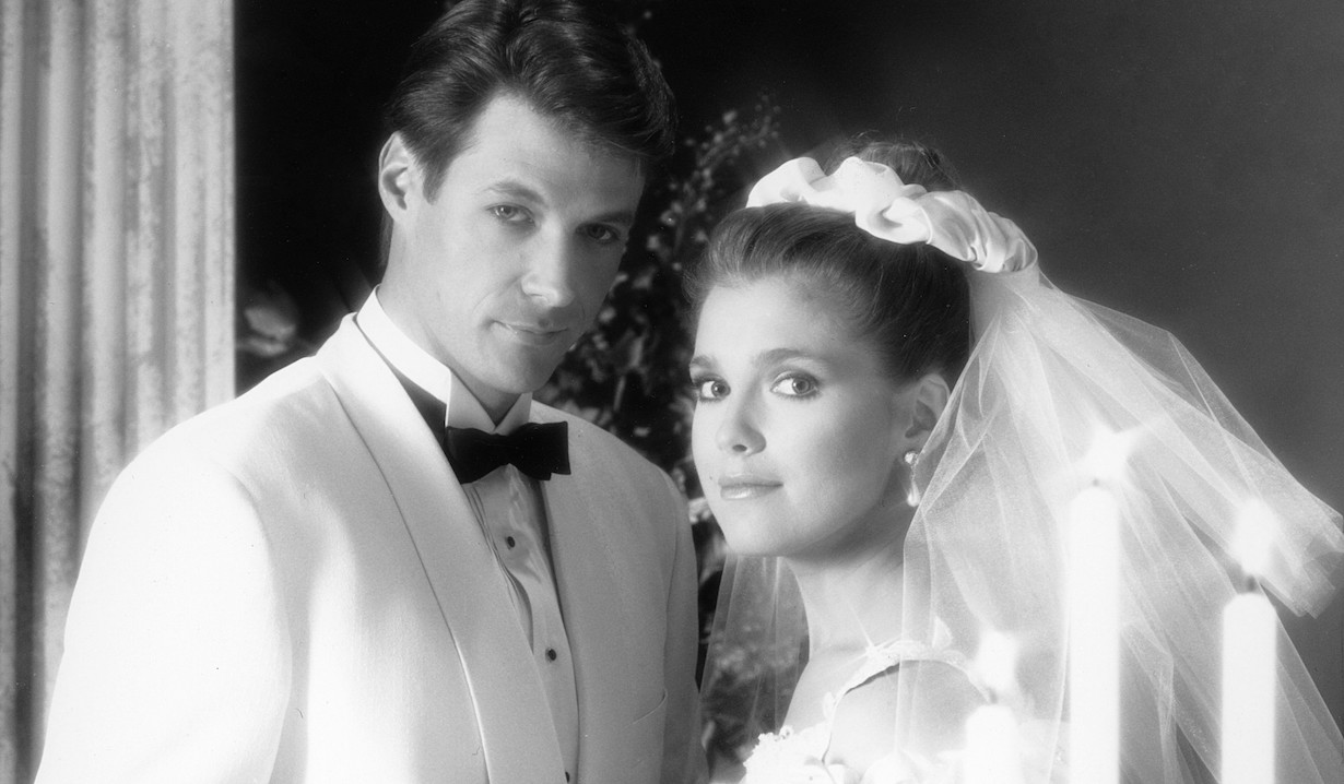 DAYS OF OUR LIVES, from left: Matthew Ashford, Melissa Reeves, jack jennifer 1992 wedding