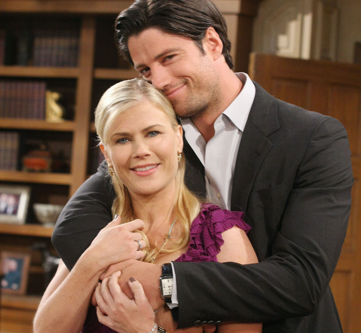James Scott as E.J. and Alison Sweeney as Sami on Days of Our Lives