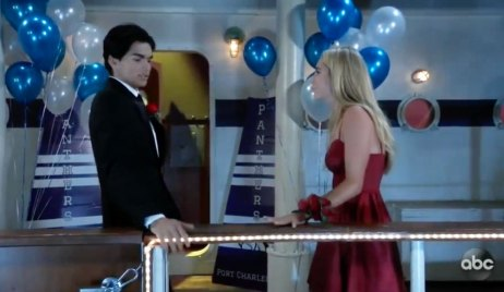 Dev and Joss at the dance on GH
