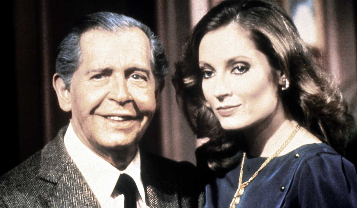 GENERAL HOSPITAL, (from left): Milton Berle, Sharon Wyatt, (1981), 1963-. © ABC / Courtesy Everett Collection