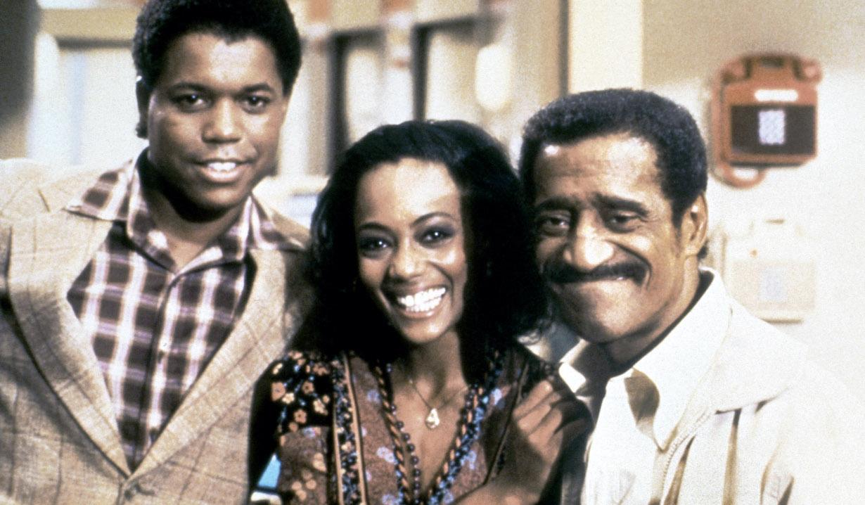GENERAL HOSPITAL, (from left): Todd Davis, Bianca Ferguson, Sammy Davis Jr.,(1983), 1963-. © ABC / Courtesy Everett Collection