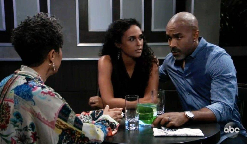 Stella, Curtis and Jordan dine on GH