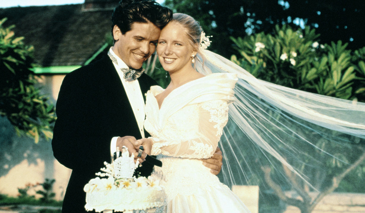 THE YOUNG AND THE RESTLESS, (from left): Michael Damian, Lauralee Bell, (1990), danny christine wedding
