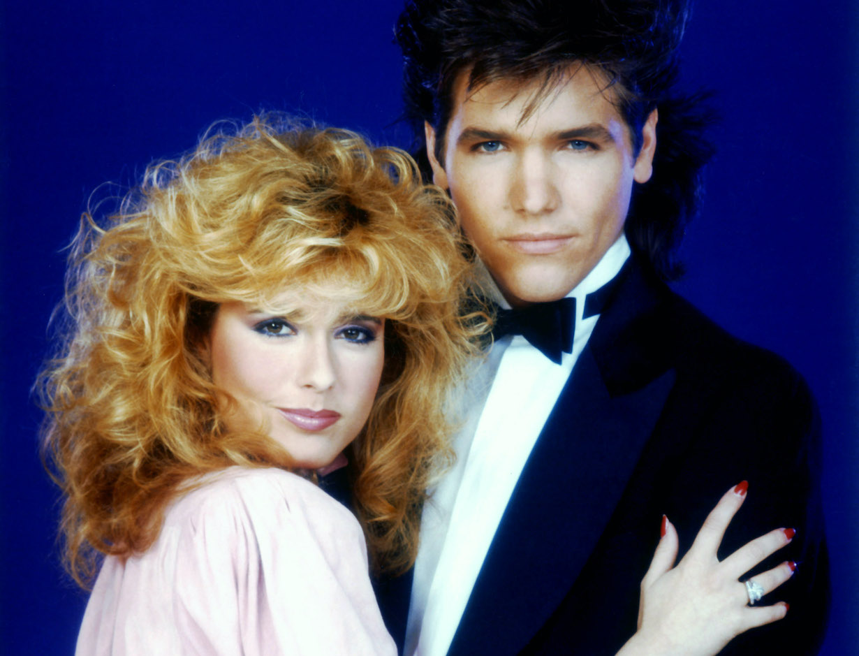 THE YOUNG AND THE RESTLESS, from left: Tracey E. Bregman, Michael Damian, (ca. 1985), lauren danny