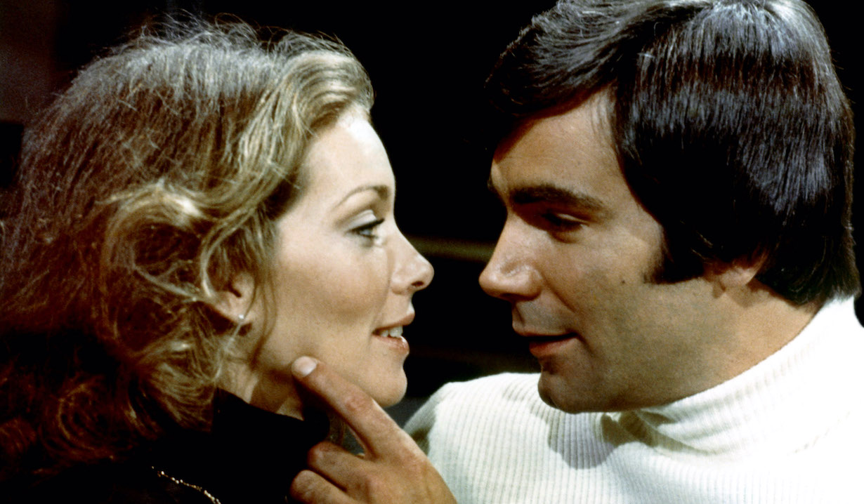 THE YOUNG AND THE RESTLESS, from left: Jaime Lyn Bauer, John McCook, 1973-, lance lorie CBS/Courtesy of the Everett Collection