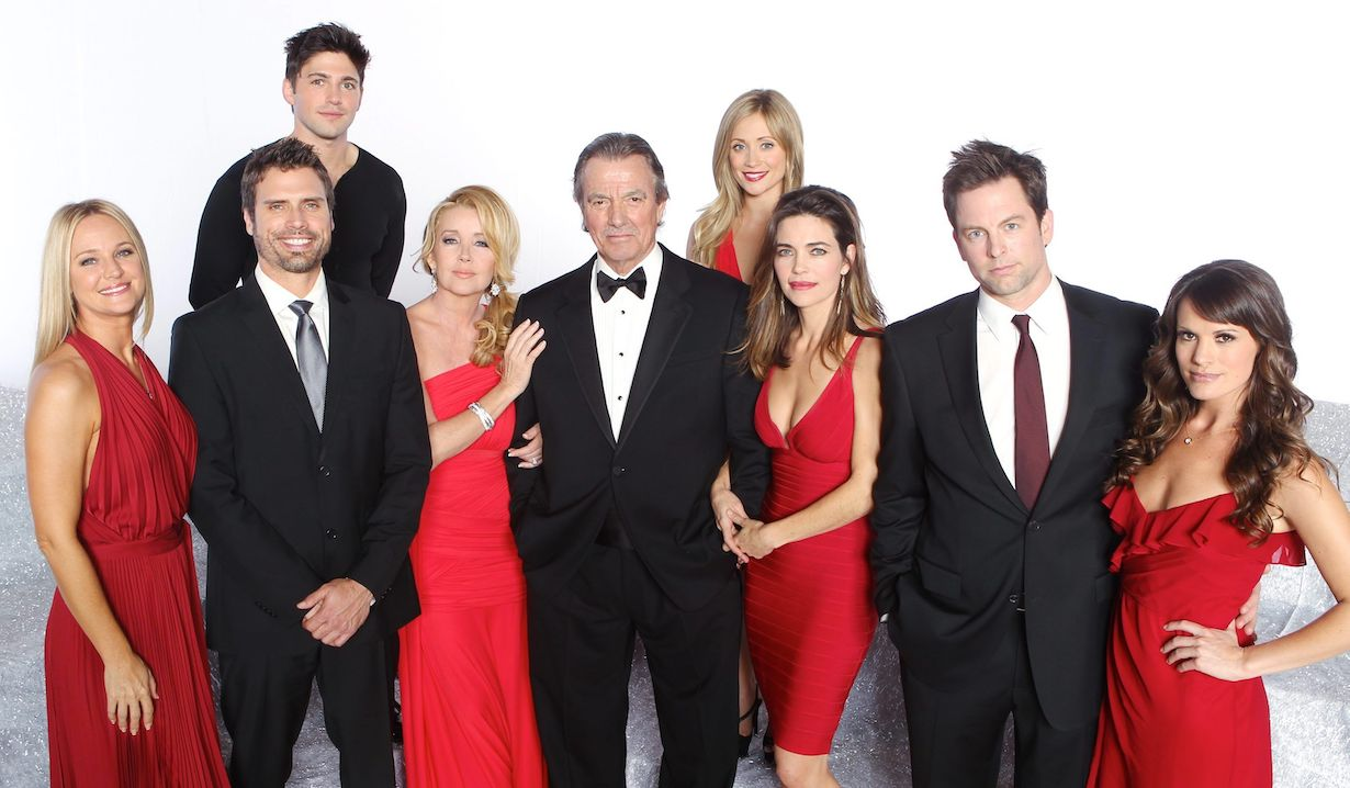 "Eric Braeden, Melody Thomas Scott, Sharon Case, Joshua Morrow, Amelia Heinle, Robert Adamson, Marcy Rylan, Michael Muhney, Melissa Claire Egan""The Young and the Restless"" Set 40th Anniversary Cast Photo Gallery ShootCBS television CityLos Angeles12/10/12© John Paschal/jpistudios.com310-657-9661"