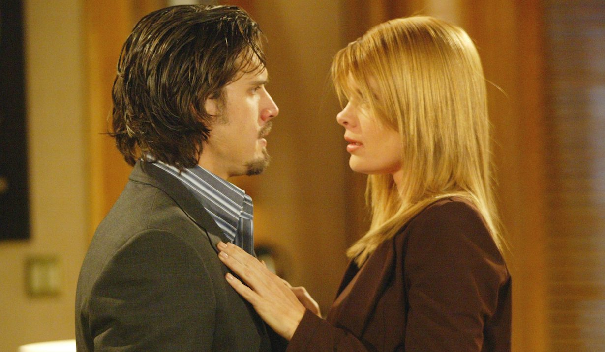 "Michelle Stafford, Joshua Morrow ""The Young and the Restless"" phyllis nick about to kiss am"