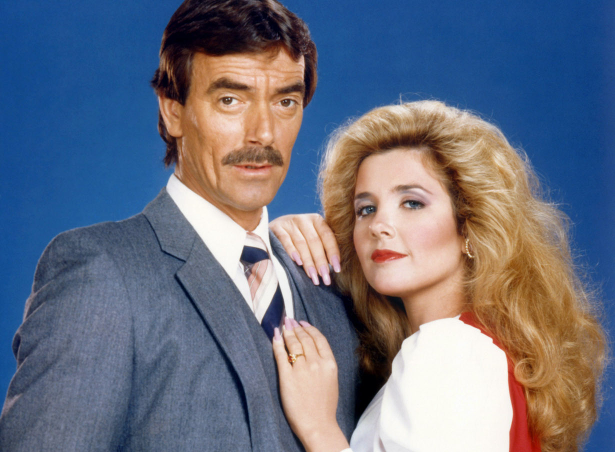 THE YOUNG AND THE RESTLESS, from left: Eric Braeden, Melody Thomas Scott, victor nikki gallery 1980s CBS/Courtesy of the Everett Collection