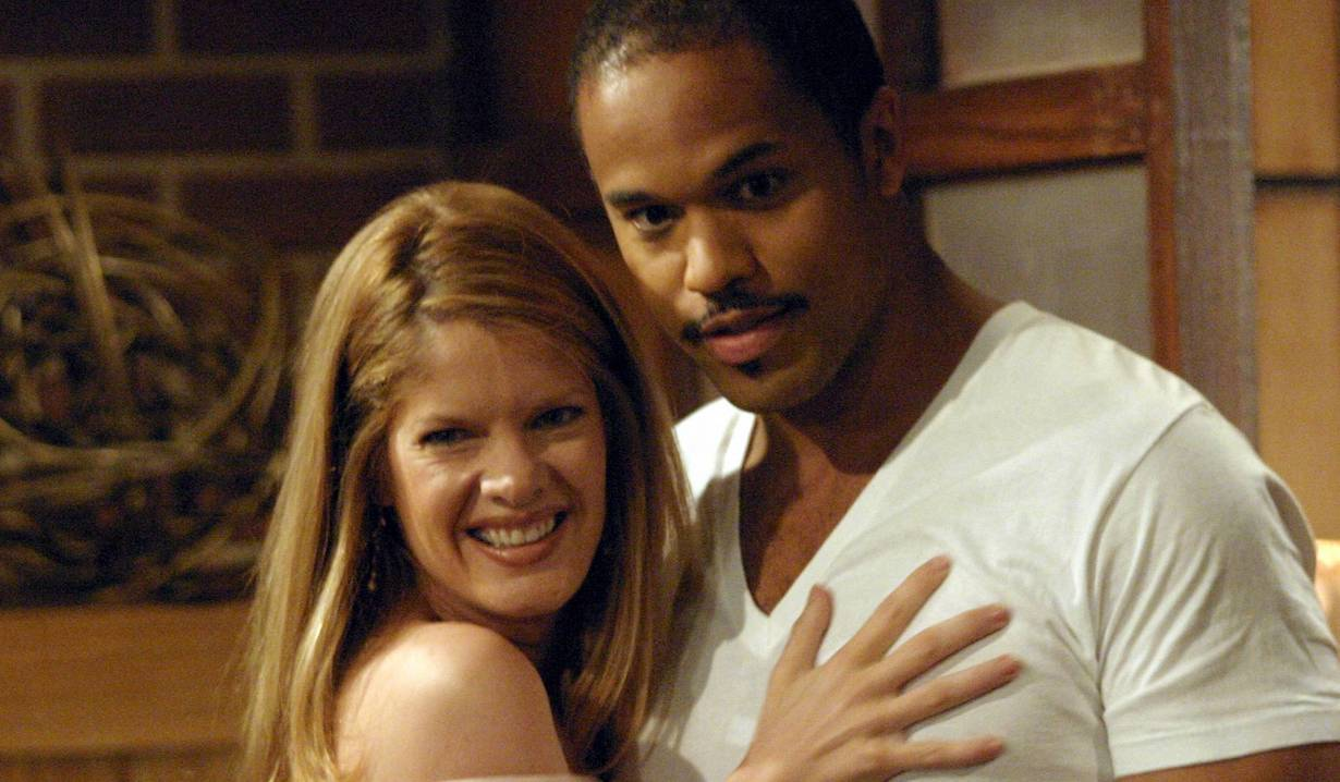 "Keith Hamilton Cobb and Michelle Stafford ""The Young and the Restless"" phyllis damon bl"