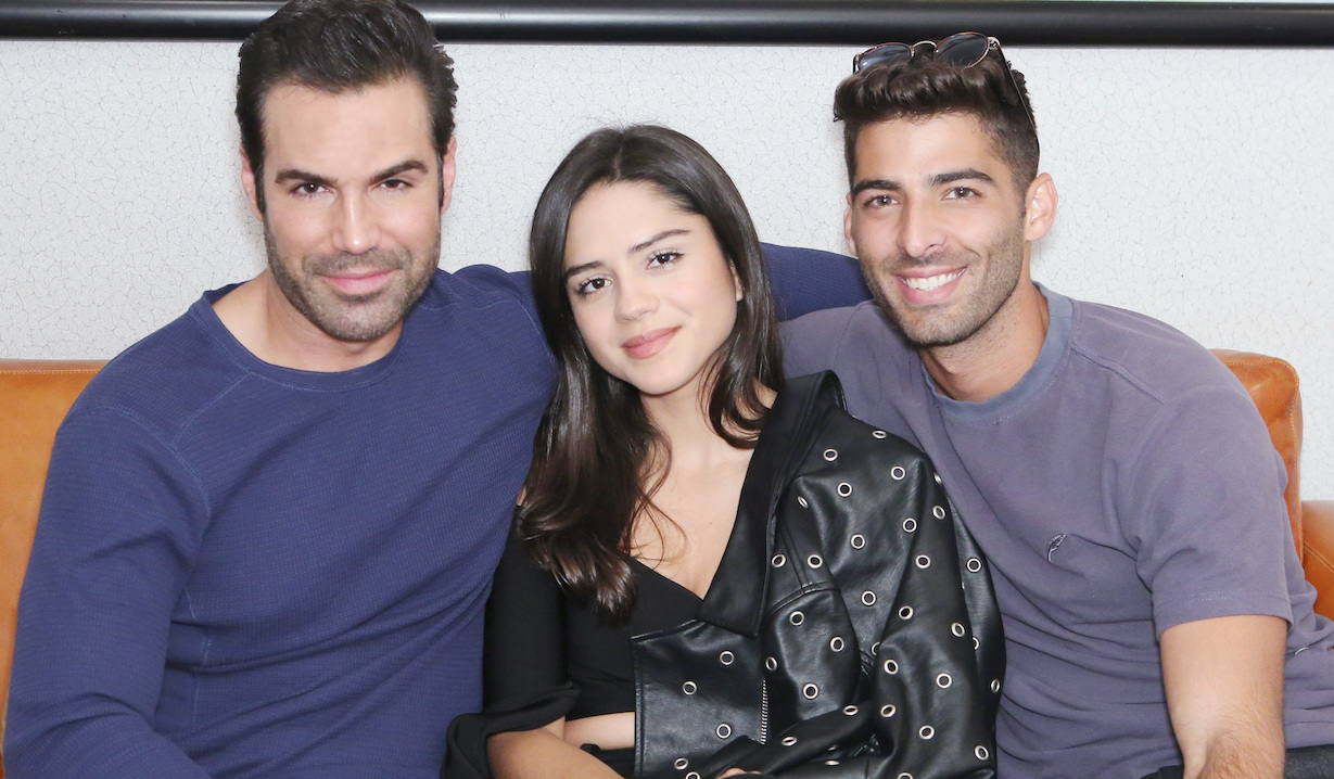 "Jason Canela, Sasha Calle, Jordi Vilasuso ""The Young and the Restless"" rey sasha arturo hw"