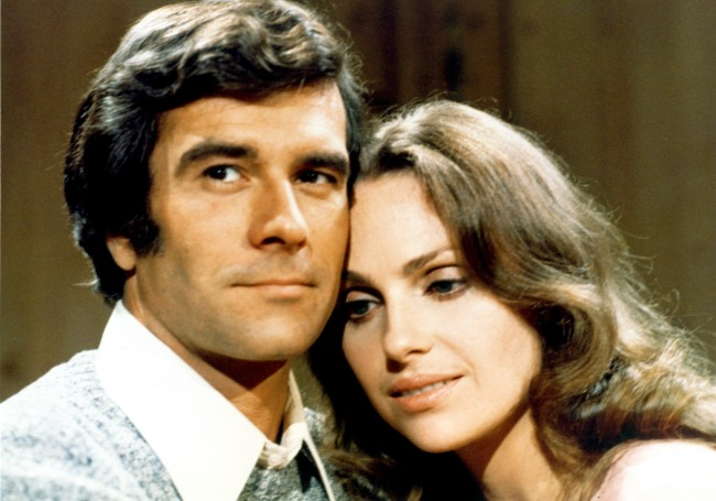 THE YOUNG AND THE RESTLESS, Tom Hallick, Janice Lynde, season 1, 1973 ec