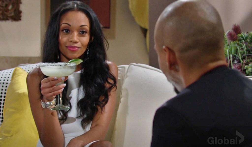 Amanda, Devon drinks Y&R