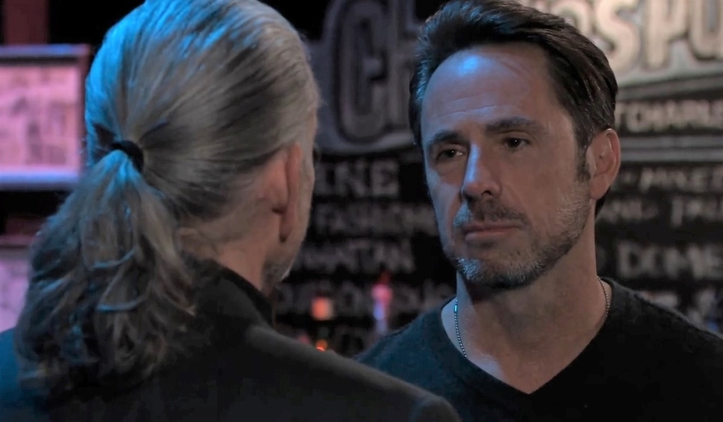 Cyrus has things to settle with Julian at Charlie's Pub General Hospital