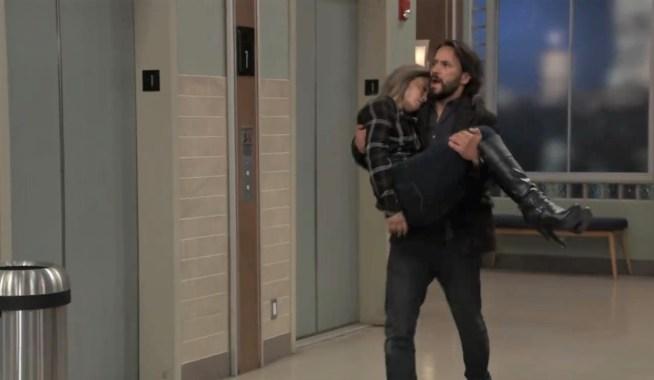 Dante carries Lulu at General Hospital