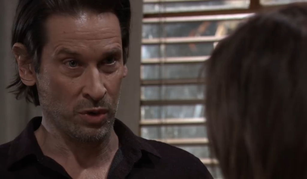 Franco and Liz discuss his tumor at home General Hospital