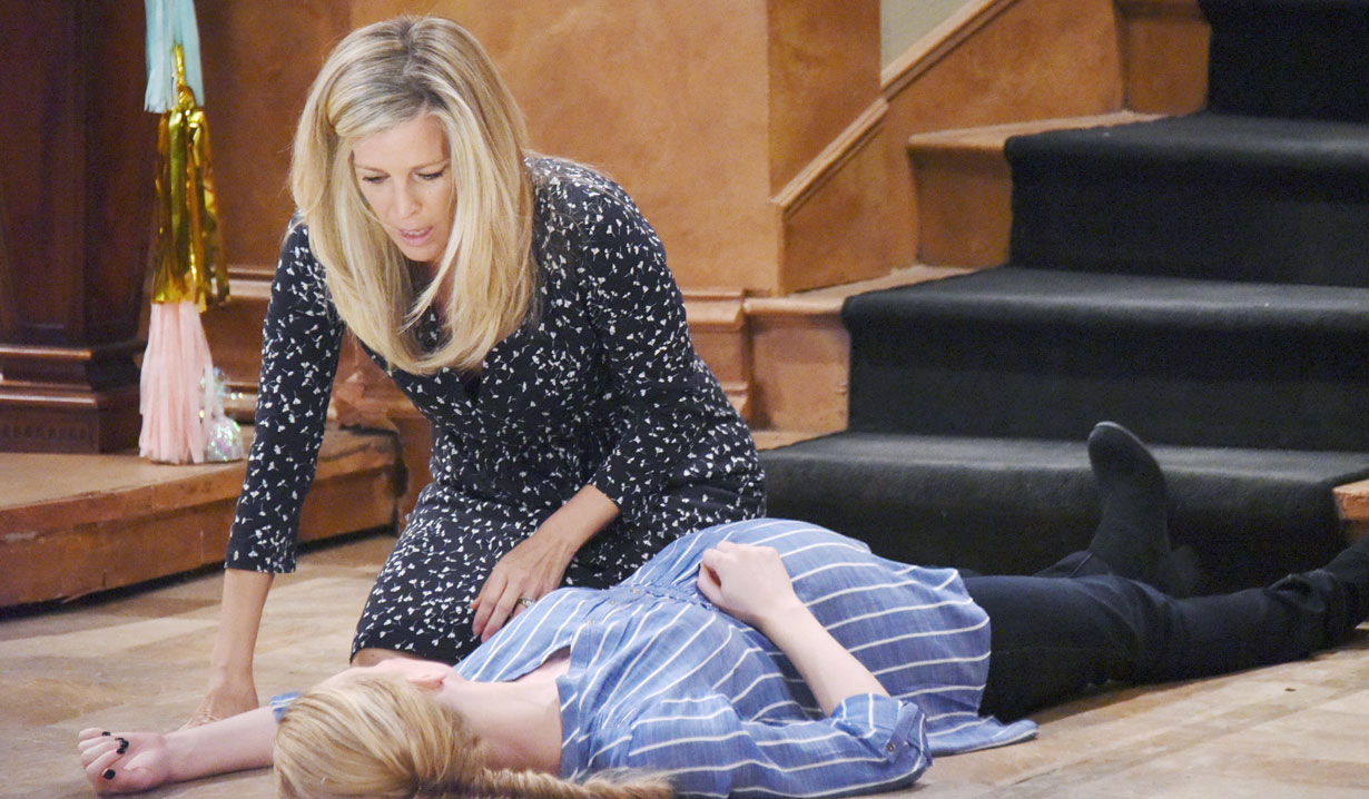 Carly and Nelle's fight and fall on GH