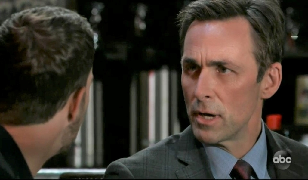Valentin and Peter talk Helena at Charlie's General Hospital