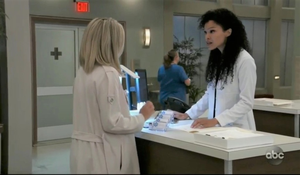 Portia updates Carly about Sasha at General Hospital