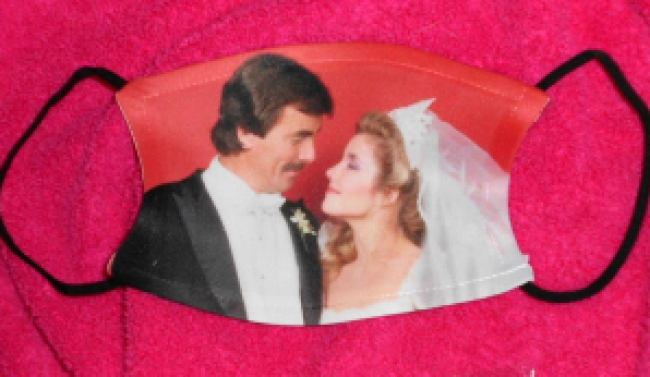 young restless victor nikki wedding mask