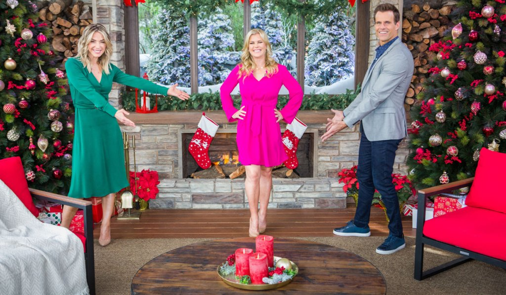 days' alison sweeney with Hallmark Home & Family's cameron mathison and debbie Matenopoulos