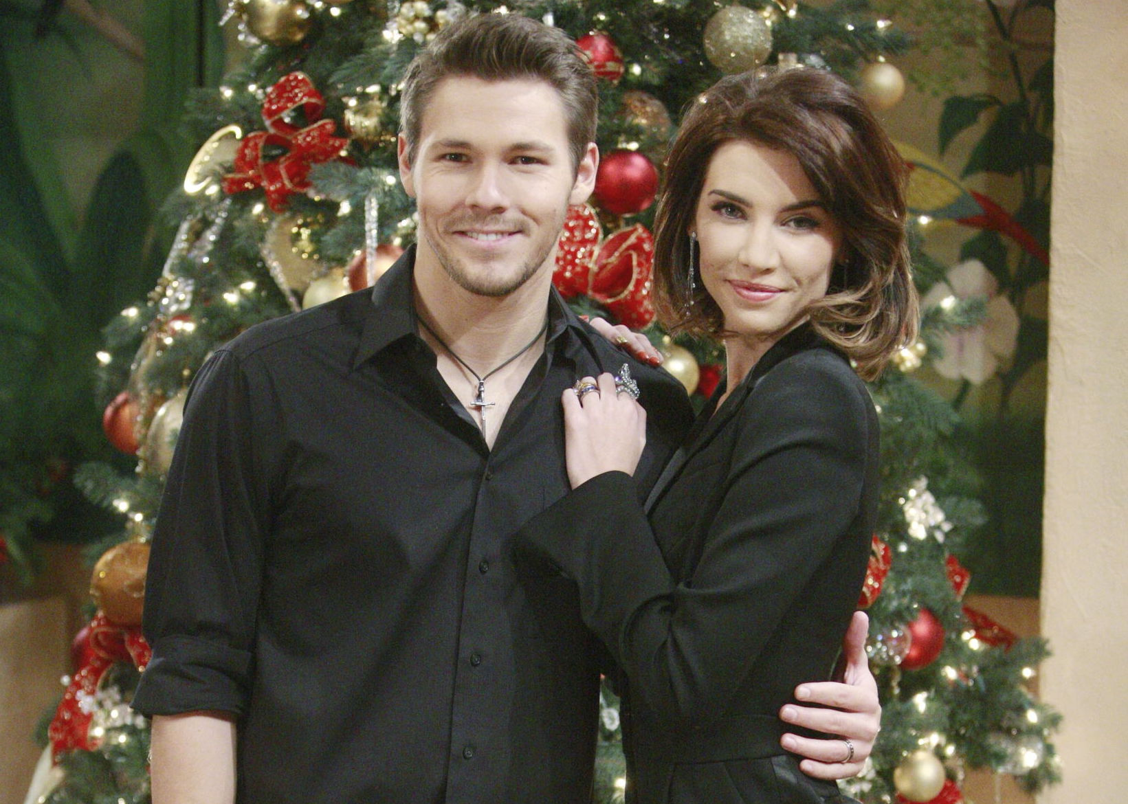 "Scott Clifton, Jacqueline MacInnes Wood ""The Bold and the Beautiful"" ss christmas"