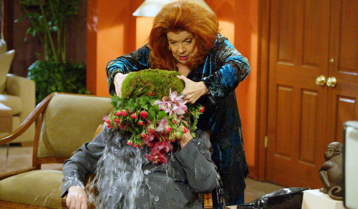 """sally stephanie bb Susan Flannery and Darlene Conley""""The Bold and the Beautiful"""" SetCBS Television City8/19/03©Aaron Montgomery/JPI310-657-9661Episode# 4131"""