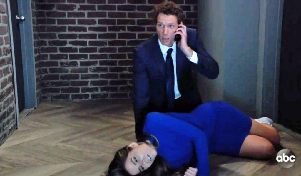 Brando helps Sasha on GH