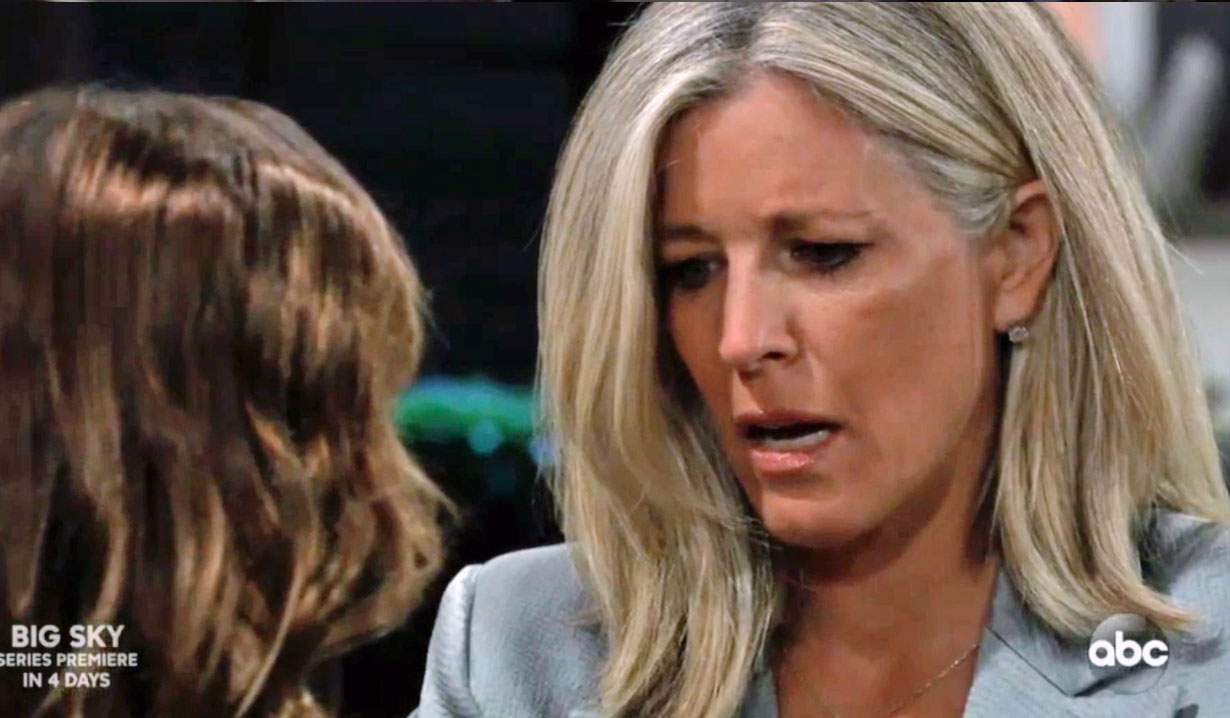Carly realizes Nelle is Nina's daughter on GH