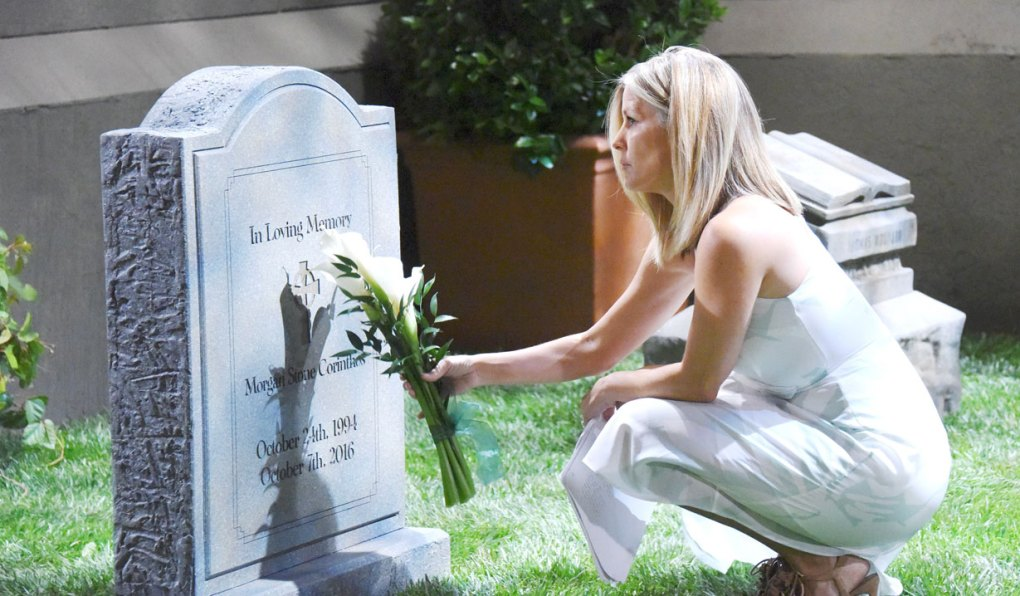 carly visits morgan's grave gh