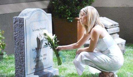 carly visits morgan's grave gh