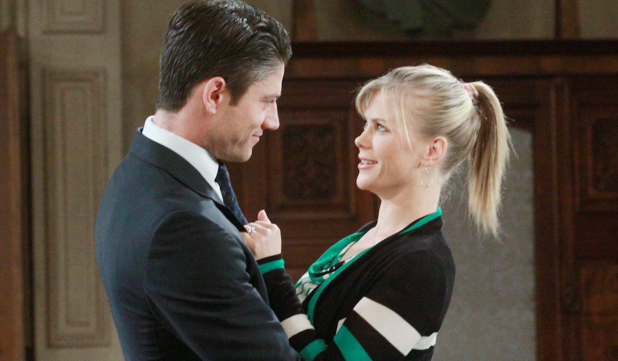 E.J. and Sami happy on Days of Our Lives