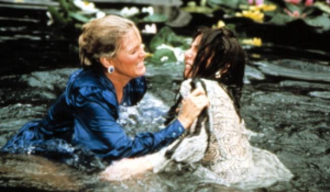 DYNASTY, Linda Evans, Joan Collins, Ep. 3-23, 'The Threat', 04-13-1983. Season 3, 1981-1989.