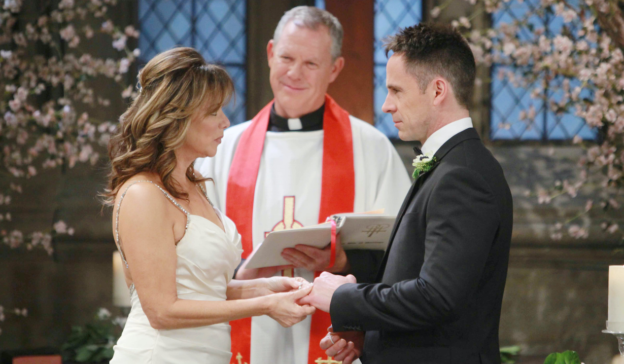 "julian alexis wedding Nancy Lee Grahn, William deVry ""General Hospital"""