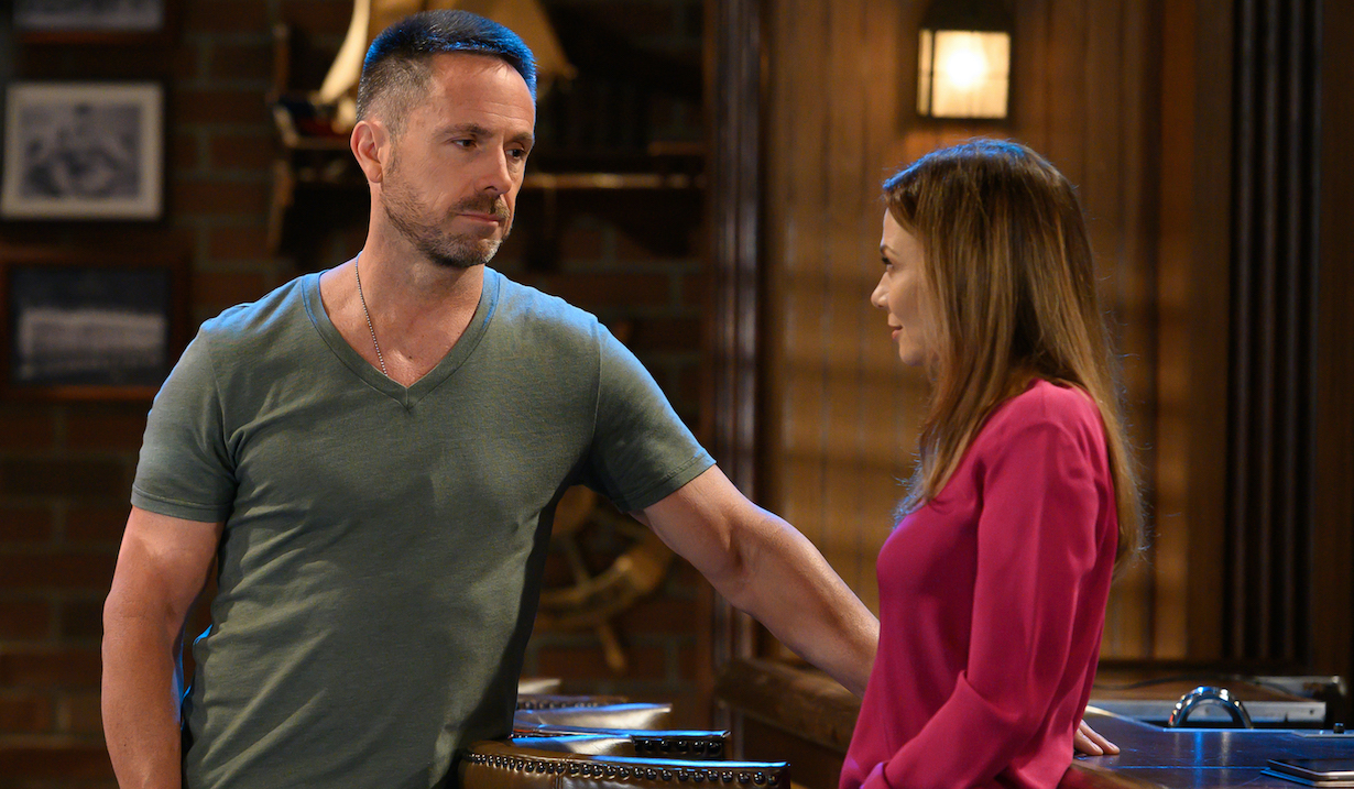 "GENERAL HOSPITAL William deVry (Julian) and Tamara Braun (Kim) in scenes that air the week of August 12, 2019 on ABC's ""General Hospital."" ""General Hospital"" airs M-F, 3-4pm, ET on ABC. GH19(Walt Disney Television/Valerie Durant) WILL DEVRY, TAMARA BRAUN"