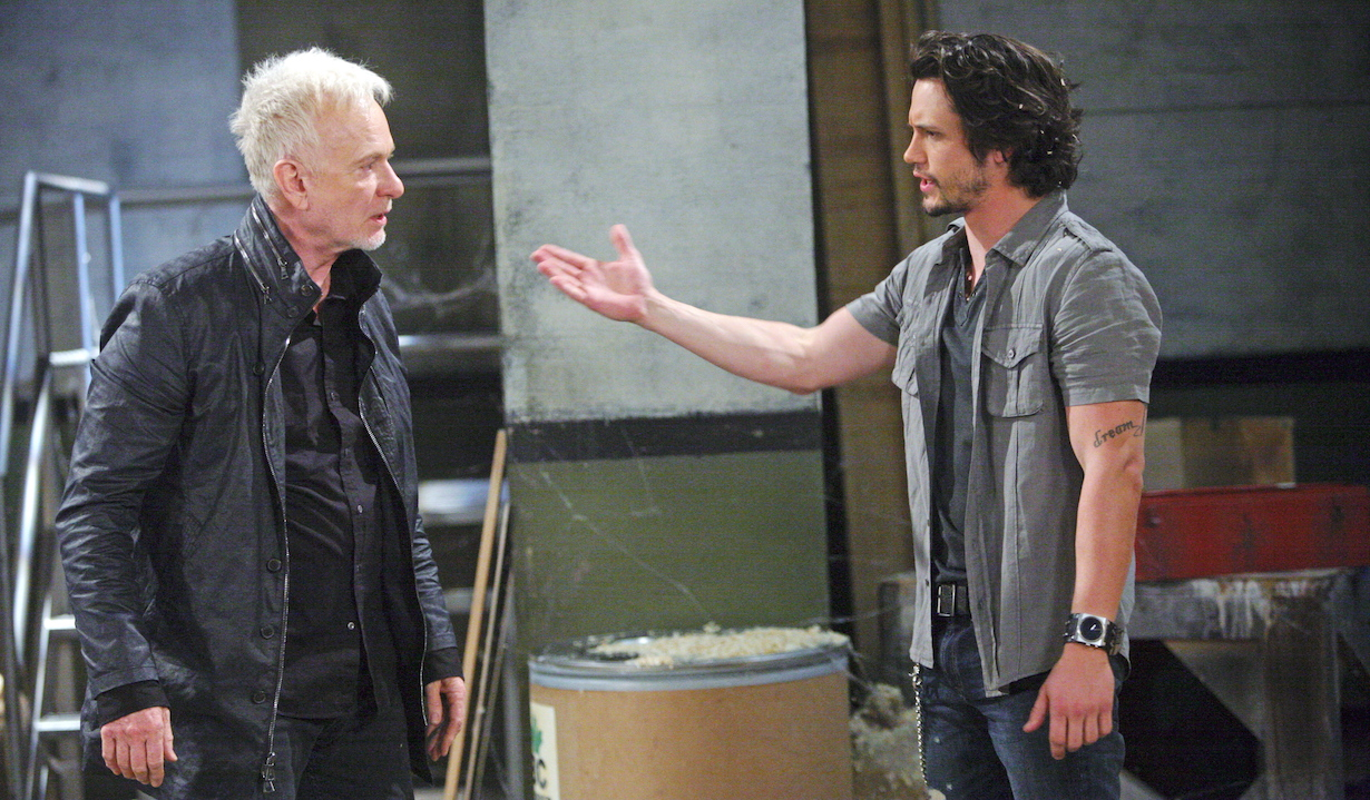 "Nathan Parsons, Anthony Geary ""General Hospital"" Set The Prospect Studios ABC Studios 05/22/15 © Sean Smith/jpistudios.com 310-657-9661 Episode # 13340 U.S. Airdate 07/03/15"