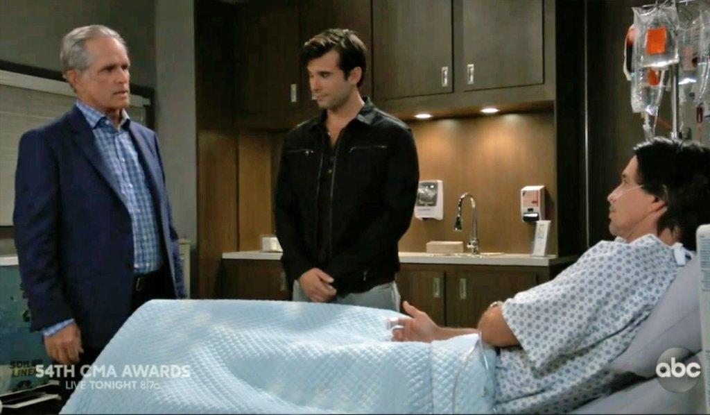 Gregory visits Finn on GH