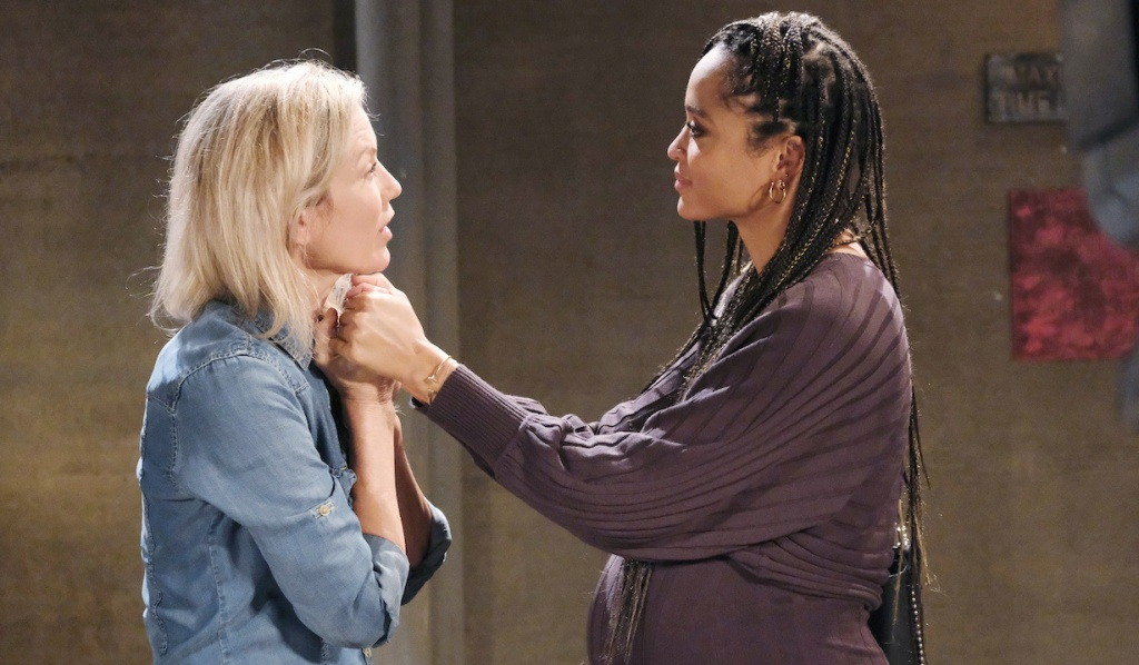 Lani and Kristen have emotional prison visit on Days of Our Lives