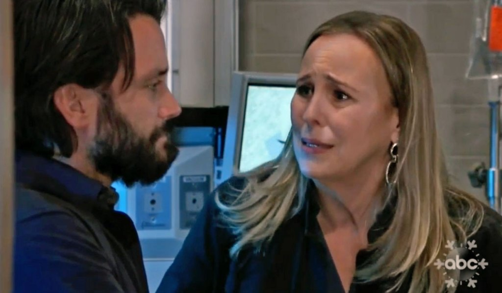 laura and dante discuss lulu on gh