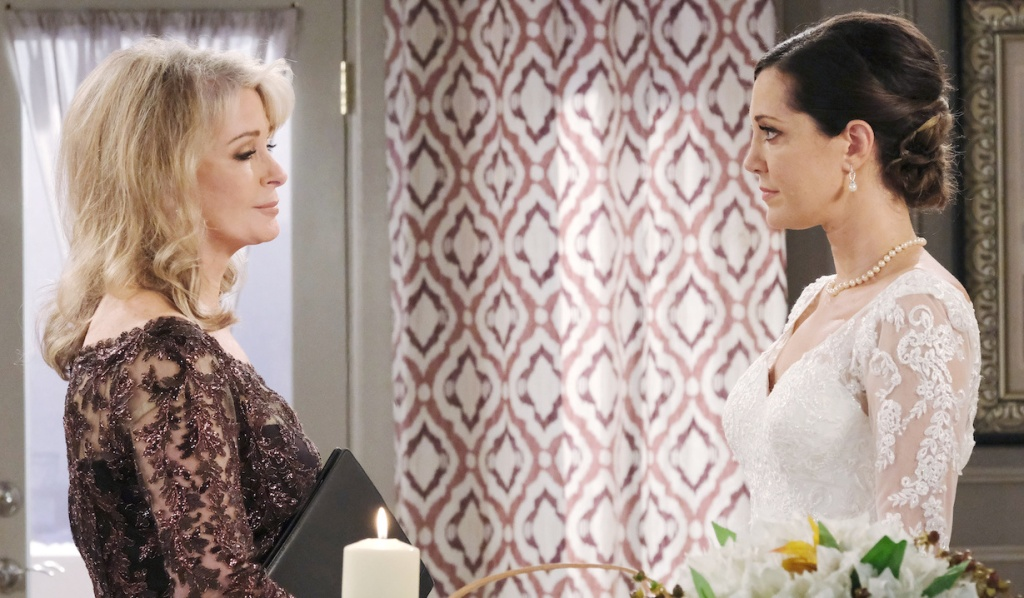 Marlena confronts Jan at the wedding on Days of Our Lives