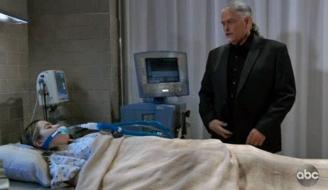 Sasha on a ventilator on GH